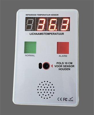Hand free infrarood thermometer met stem en licht