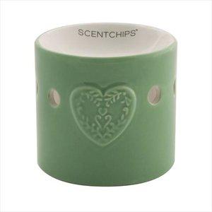 Scentchips brander groen hart